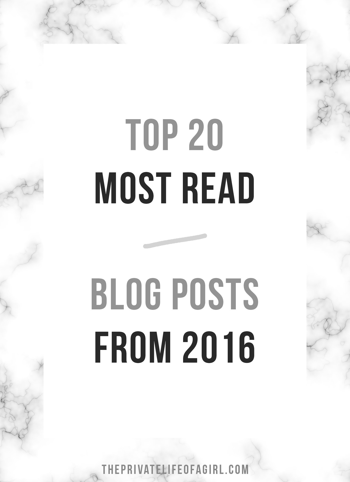 The Top 20 Blog Posts Of The Past Year