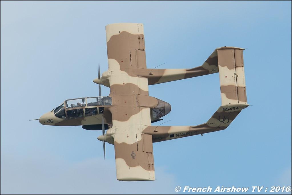 OV 10 Bronco du MEAC de Montelimar , F-AZKM , North American OV-10 B Bronco ,Meeting de l'air BA-702 Avord , Meeting Aerien Avord 2016 , FOSA , Armée de l'air , Canon Reflex , EOS System