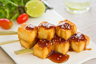 Grilled Tofu with Teriyaki sauce | by vanillaechoes