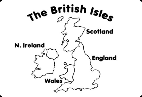 British Isles Simple Map For Nhi Banh Flickr