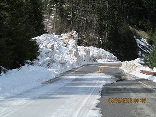 Punched through the slide at No Name Creek | by WSDOT