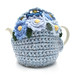 Light  Blue Tea Cosie With Blue Mixed Flowers