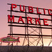 Pikes Place Market at Sunset