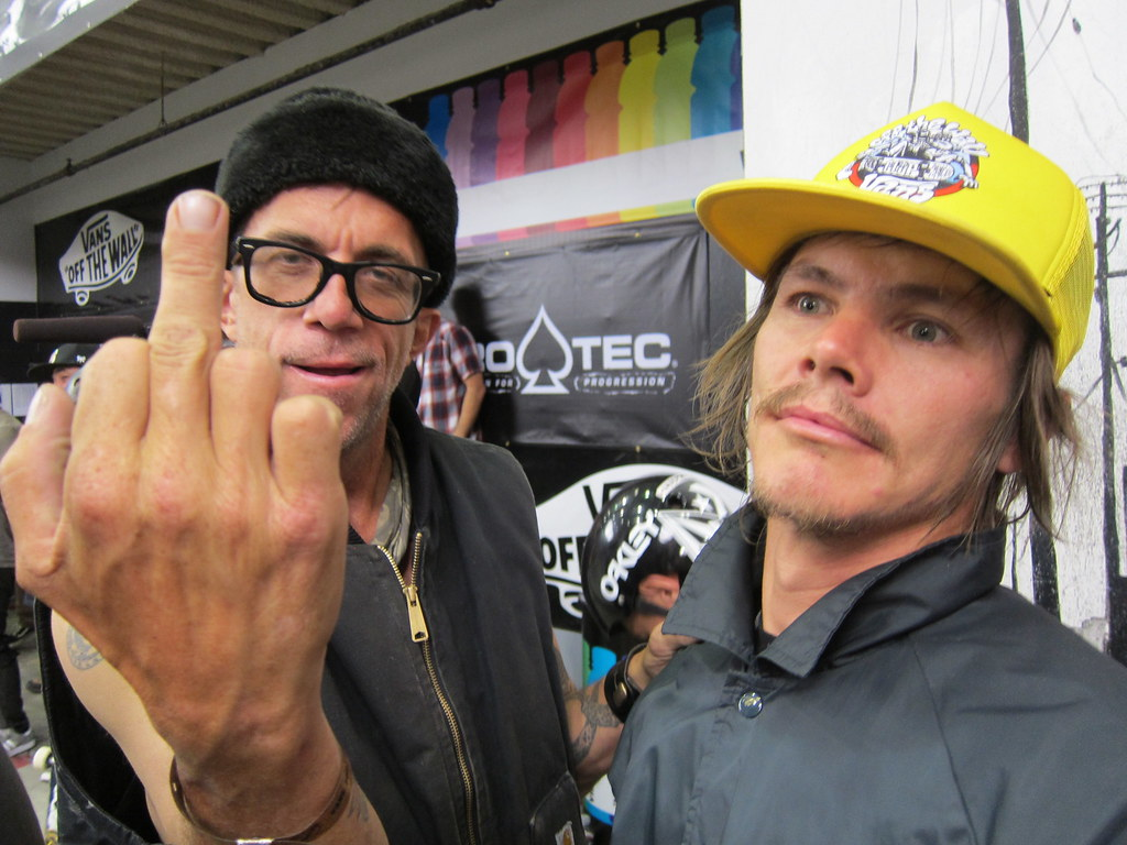 Jake Phelps Picture: Jake Phelps Gives The Bird With