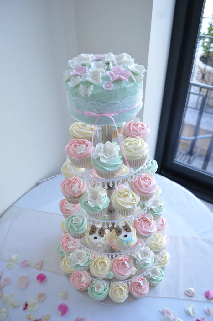 Tiffany Blue Pale Pink And Cream Wedding Cupcakes Flickr