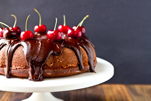 Roasted Cherry Chocolate Cake | by TheBrewer&TheBaker