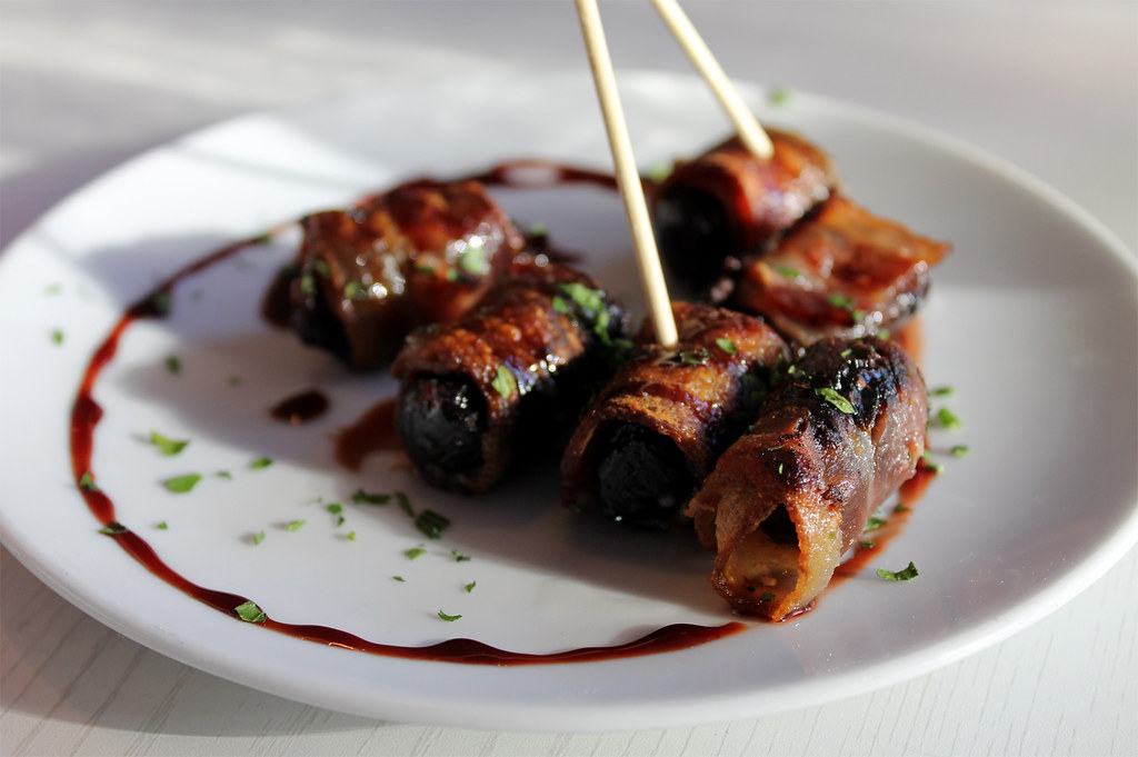 Devils on Horseback | roasted prunes wrapped in bacon ...