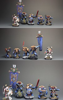 Ultramarine command squad | by Ichiban Painting