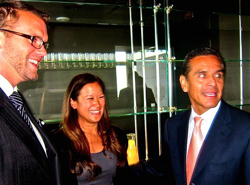 David Bernalh, Caryl Chinn, Mayor Villaraigosa | by jayweston@sbcglobal.net