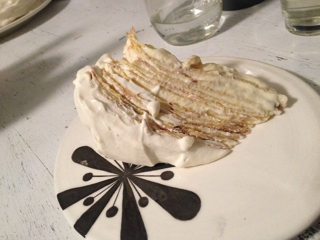 birthday lemon mascarpone crepe cake