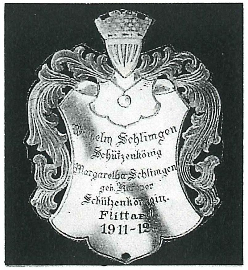 Koenigsschild Flittard von Wilhelm Schlimgen aus dem Jahr 1911