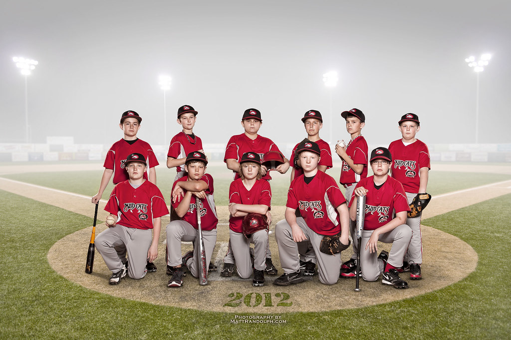 Mudcats baseball team portrait bare 42 plm mounted on for Team picture ideas