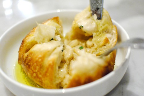 WOOD FIRED GARLIC KNOT extra virgin olive oil, sea salt | by Darin Dines