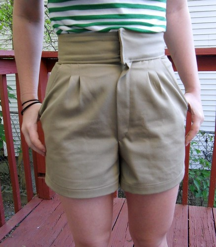 Khaki Shorts | by lladybird