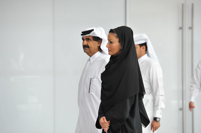 his highness sheikh hamad bin khalifa al thani and her. Black Bedroom Furniture Sets. Home Design Ideas