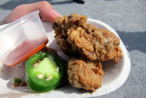 Brooklyn - Williamsburg: Smorgasburg - Biddy and Yolk - Fried Chicken Livers | by wallyg