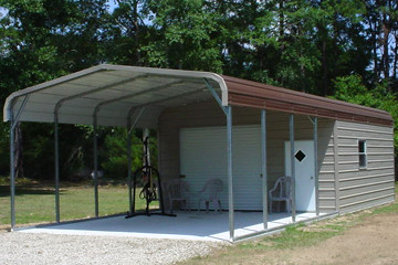 16x35 Enclosed Carport With Carport Extension Another