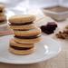Chocolate Filled Pecan Butter Sandwich Cookies