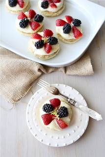 Puff Pastry Dessert Rounds with Lemon Mascarpone & Fresh Berries Recipe | by CookinCanuck