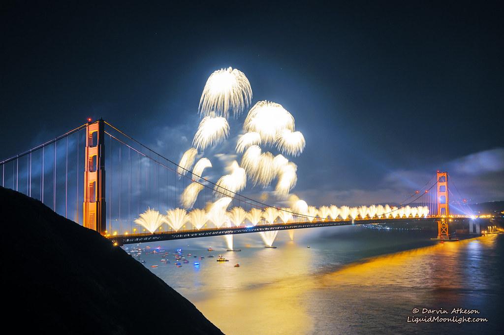 Golden Gate Fireworks Golden Gate Bridge 75th Anniversar