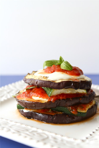 Grilled Zucchini & Eggplant Parmesan Recipe {Vegetarian} | by CookinCanuck