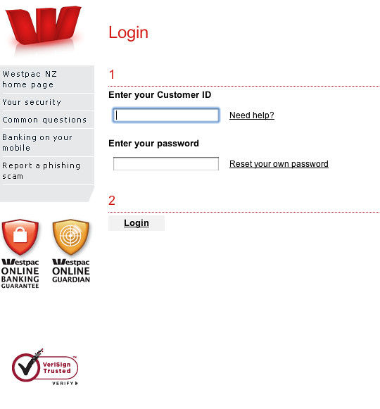 bank westpac online sign