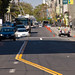 18450 Angled double yellow lines on Eddy from Leavenworth to Hyde to for left turn pockets