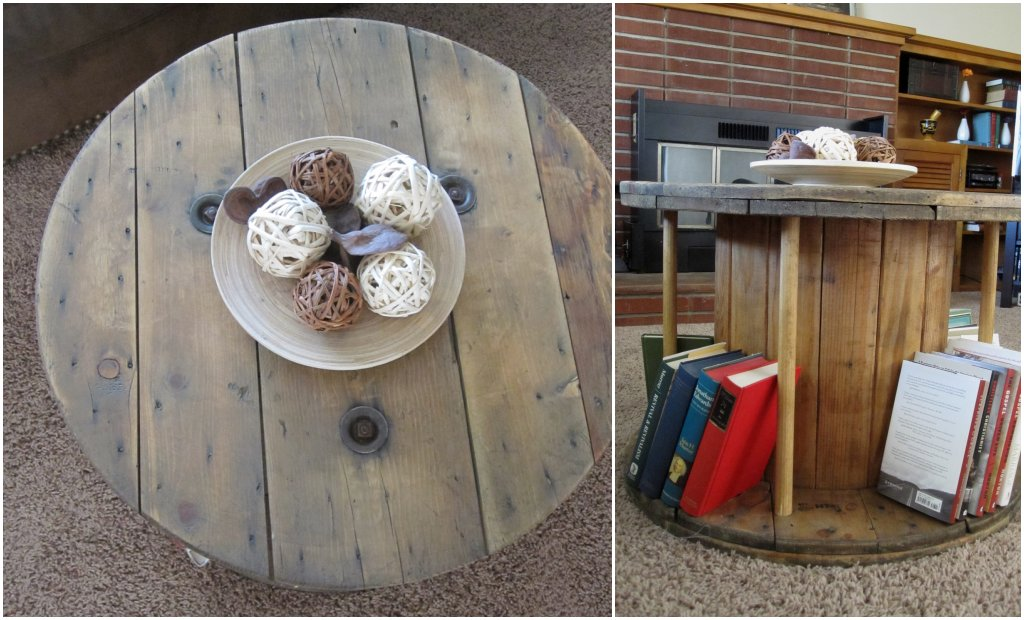 Diy electrical cable reel spool coffee table tutorial for Diy wire spool