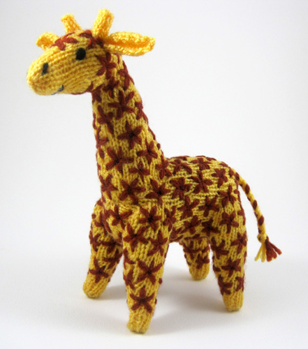 Knitting Patterns For Giraffe Free : Knitted giraffe toy The knitting pattern for these giraffe? Flickr