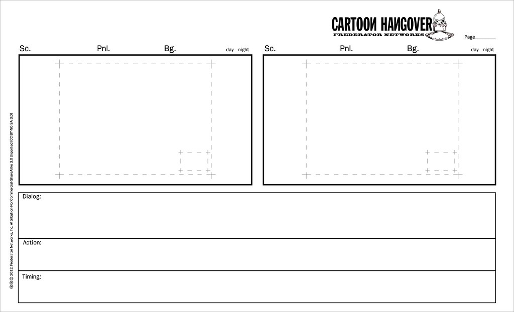 Cartoon Hangover Storyboard Template | Fred Seibert | Flickr