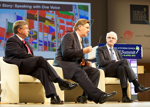 180412 - WTTC Summit - Session 4 - From left: Marthinus van Schalkwyk; Martin Craigs; Gerald Lawless; | by World Travel & Tourism Council