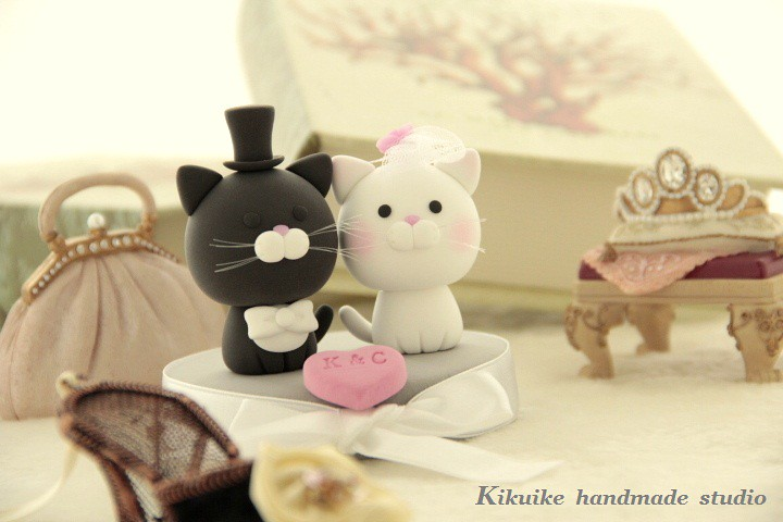 cat wedding cake toppers wedding cake topper cat kitty flickr 2519