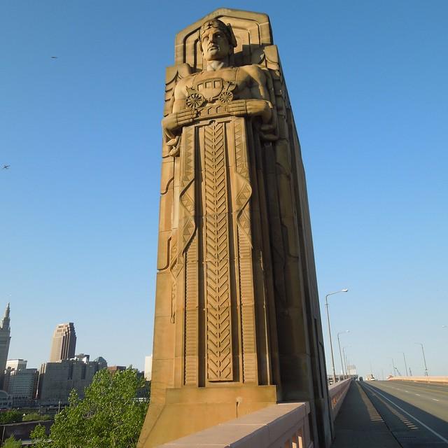 Guardian of traffic hope memorial bridge cleveland for Frank hering