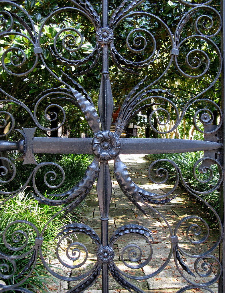 The Sword Gate Detail 32 Legare Street Charleston Sc