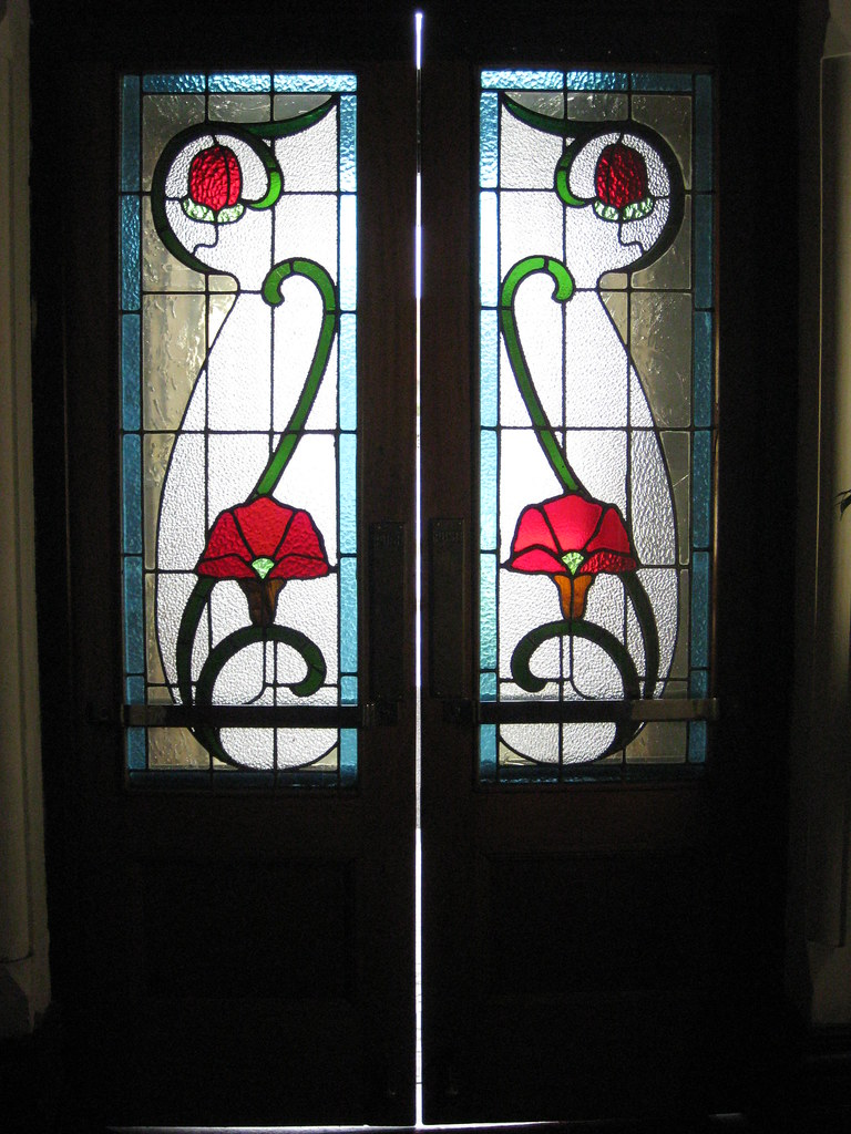 The Art Nouveau Stained Glass Inner Vestibule Doors Of Rei