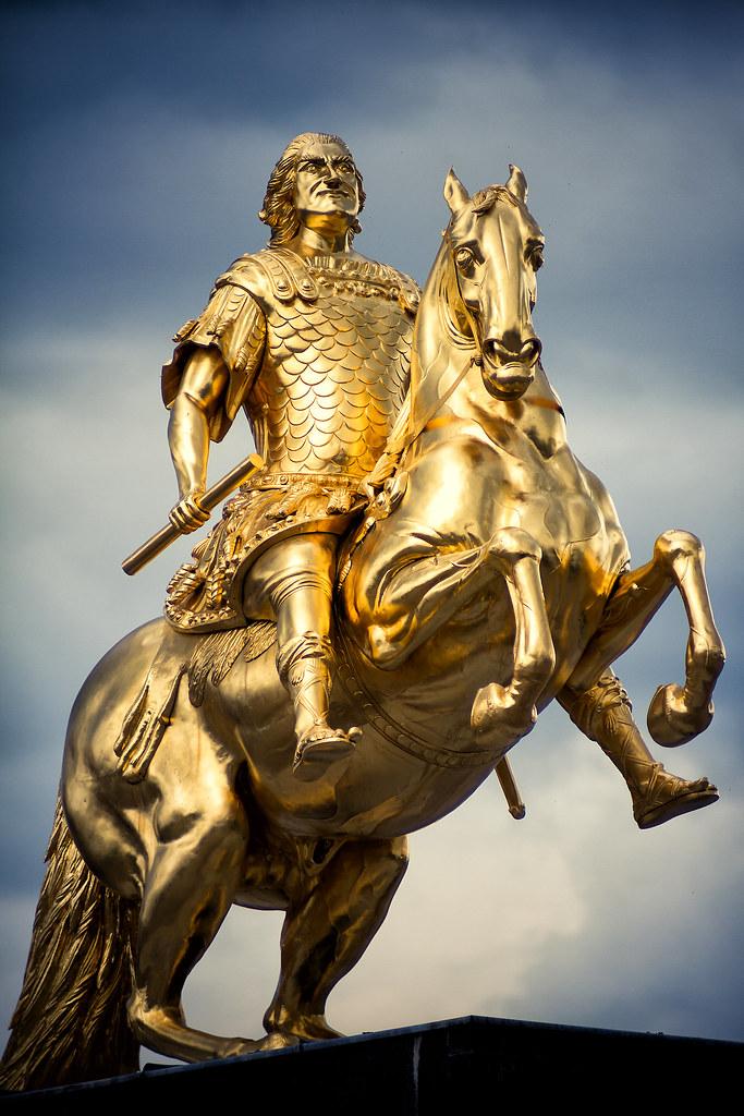 Der Goldene Reiter Dresden Goldener Reiter Dresden