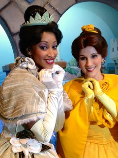 Tiana and Belle | by EverythingDisney