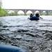 Rafting under bridges