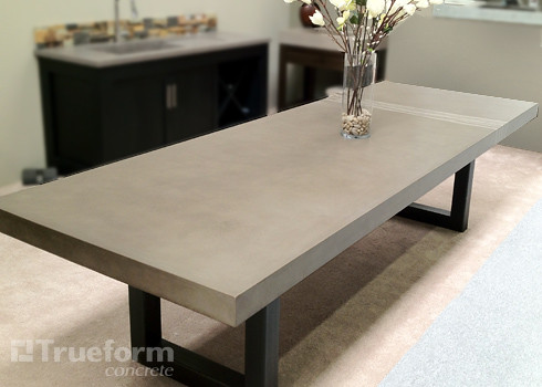 Concrete Table Concrete Table By Trueform Concrete This