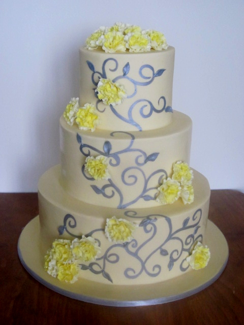 wedding cakes caloundra lemon yellow and silver wedding cake congratulations 24008