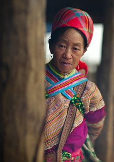Flower Hmong Woman In Traditional Dress, Sapa Market, Vietnam | by Eric Lafforgue
