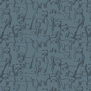 cat swamp (pattern swatch) | by olivia mew