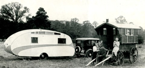 1937 And A Streamlined Car Cruiser Caravan Typical 1930s
