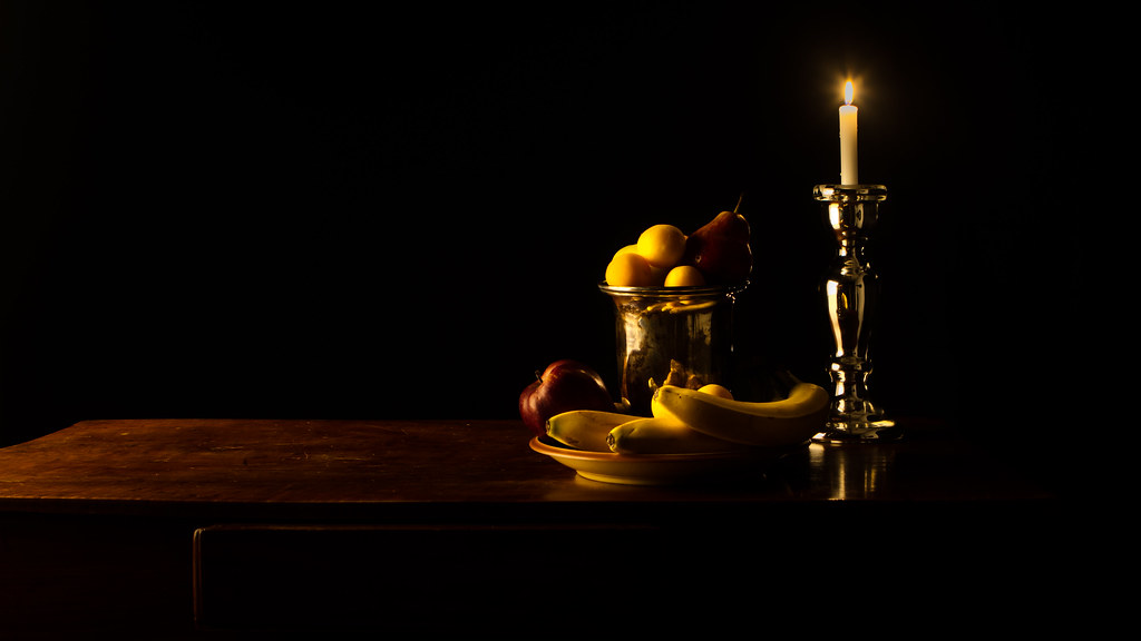 Still life with fruit ...