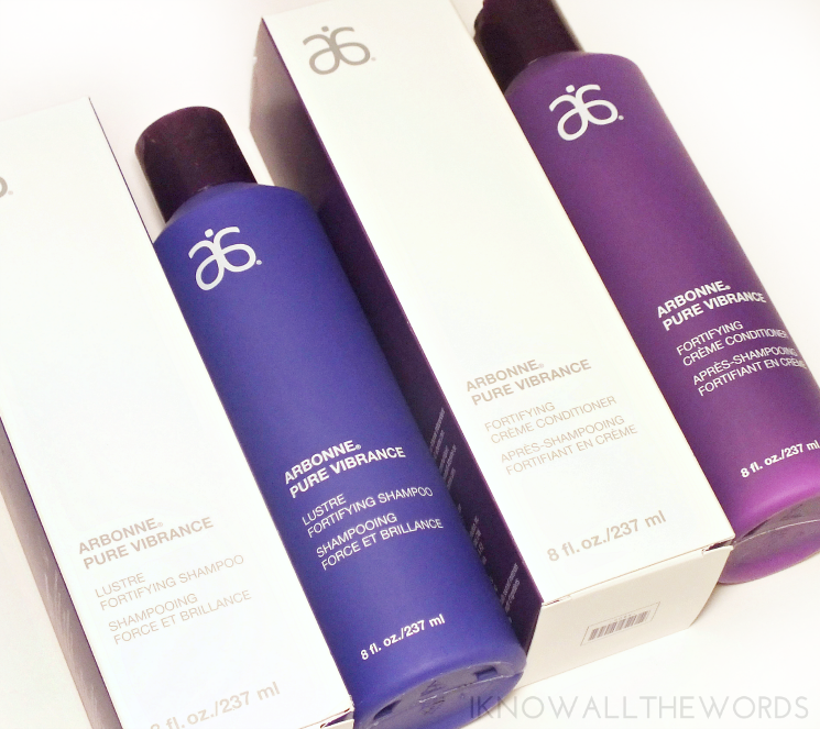 arbonne pure vibrance hair care shampoo conditioner