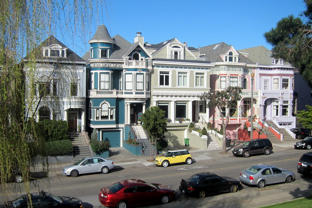 San Francisco Western Addition Alamo Square Historic Di Flickr