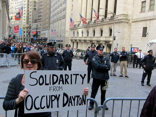 Occupy Wall Street: A13, Spring Training, Run on Bank of America, Federal Hall, Solidarity From Occupy Dayton | by Scoboco