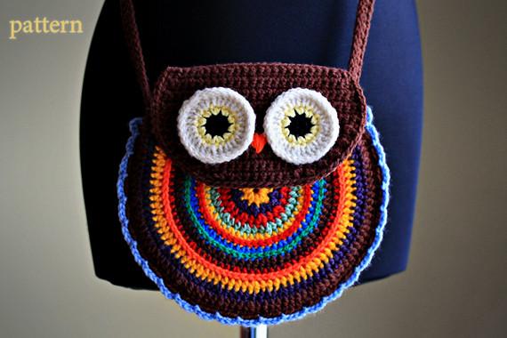 Crochet Owl Bag Pattern Free : Crochet Owl Purse - Pattern www.etsy.com/listing/90150191 ...