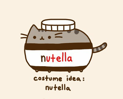 Pusheen As A Jar Of Nutella