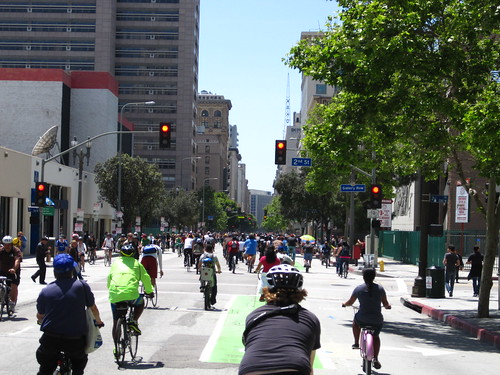 Spring Street at LA Times during CicLAvia on April 15, 2012 | by ubrayj02